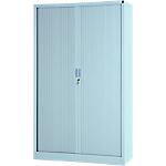 Armoire portes à rideaux H.198 x L.120 cm   Realspace PRO   décor uni Aluminium