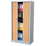 Armoire portes à rideaux H.180 cm   RS To go   décor bois Corps Aluminium
