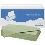 Essuie-mains Niceday 1 épaisseur Pliage en V Vert - 20 Unités de 250 Feuilles
