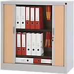 Armoire portes à rideaux  WorkPro Acier 100 (L) x 45 (l) x 100 (H) cm Imitation hêtre