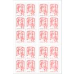 Timbres autocollant La Poste Rouge - 5 Unités