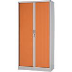 Armoire portes à rideaux  Acier 198 (H) x 100 (l) x 45 (P) cm Poirier