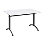Table multi usages Sodematub Cafétéria 120 x 80 cm Gris