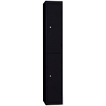 Vestiaire de bureau monobloc EVP 2 cases 30 (L) x 50 (l) x 180 (H) cm Noir