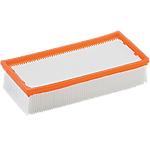Filtre plissé Kärcher Flat Orange, Blanc