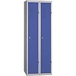 Vestiaire Industrie Propre monobloc 2 colonnes 60 (L) x 50 (l) x 180 (H) cm Bleu