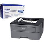 Pack Imprimante  + Toner Laser Brother HL L2300D + TN 2320 USB, Réseau