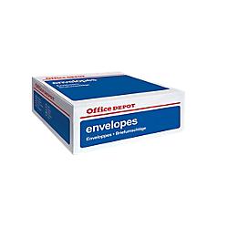 Enveloppes office depot dl 80 g m2 blanc sans fenetre for Enveloppe sans fenetre