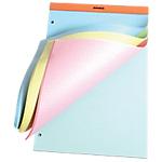 Bloc de bureau   Rhodia   Rainbow   210 x 320 mm   petits carreaux   4 teintes