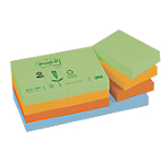 Notes repositionnables Post it Classique 38 (H)  x  51 (l) mm 100 Assortiment   12 blocs