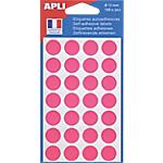 Pastilles adhésives APLI Apli Rose 168 étiquettes   168