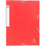 Boites de classement à élastique Exacompta Carte lustrée véritable 40 mm 32 (H) x 24 (l) cm Rouge   10