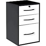 Classeur monobloc 2 tiroirs + 1 tiroir pour dossiers suspendus noir