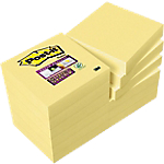 12 blocs de notes repositionnables   Post it   Super Sticky   Jaune   51 x 51 mm