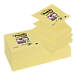 12 Blocs de notes repositionnables   Post it   Z Notes Super Sticky   Jaunes   76 x 76 mm