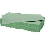 Essuie-mains NICEDAY PROFESSIONAL 2 épaisseurs Pliage en V Vert - 15 Unités de 214 Feuilles