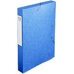 Boites de classement à élastique Exacompta Carte lustrée véritable 40 mm 32 (H) x 24 (l) cm Bleu   10