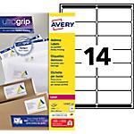 250 Feuilles d'étiquettes adresses Laser L7163   Avery   14