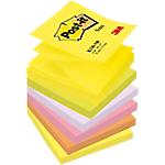6 Blocs de notes repositionnables   Post it   Z Notes   assortis   76 x 76 mm