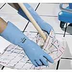 Paire de gants de ménage en latex doublé en coton taille medium