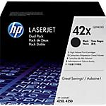Toner HP D'origine 42X Noir Q5942XD Multipack