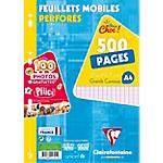 500 Feuillets mobiles   Clairefontaine   A4   Grands carreaux   300 + 200 gratuites