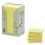 Notes repositionnables Post it Classique 38 (H)  x  51 (l) mm 100 Feuilles Jaune   24 blocs