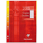 200 Copies doubles perforées   Clairefontaine   A4   Grands carreaux