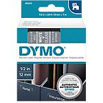 Ruban d'étiquettes DYMO 45020 12mm (L) x 7m (l) Blanc, transparent