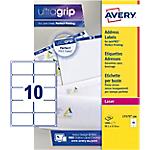 100 Feuilles d'étiquettes adresses Laser L7173   Avery   10