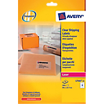 25 Feuilles Etiquettes Laser   Avery   Invisibles 99,1 x 67,7 mm