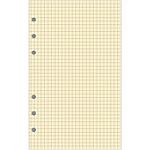 Recharge pour organiseur Exacompta Exatime 21   Non millésimé 40 Pages Quadrillé 5 x 5 21 (H) x 14,2 (l) cm Jaune