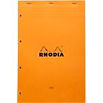 Bloc de bureau   Rhodia   Perforé 4 trous   A4 détaché   210 x 320 mm   grands carreaux   blanc