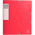 Boites de classement à élastique Exacompta Carte lustrée véritable 60 mm 32 (H) x 24 (l) cm Rouge   10