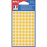 Pastilles adhésives AGIPA Apli 8mm (ø) Jaune 462 étiquettes   462