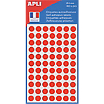 Pastilles adhésives AGIPA Apli 8mm (ø) Rouge 462 étiquettes   462