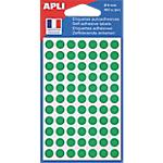 Pastilles adhésives APLI Apli Vert 462 étiquettes   462 Pastilles
