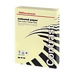 Ramette de papier couleur jaune pastel de 250 feuilles   Office Depot   A4   160g