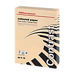 Ramette de papier couleur saumon pastel de 500 feuilles   Office Depot   A4   80g