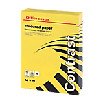 Ramette de papier couleur jaune teinte intense de 500 feuilles   Office Depot   A4   80g