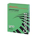 Ramette de papier couleur verte teinte intense de 250 feuilles   Office Depot   A4   160g