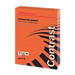 Ramette de papier couleur rouge teinte intense de 250 feuilles   Office Depot   A4   160g