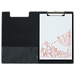Porte bloc PVC noir avec rabat   Office Depot   34 (l) x 23,5 (h) cm