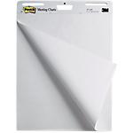 2 Blocs de 30 feuilles repositionnable blanc uni   Post it®   Meeting chart   63.5 x 77.4 cm