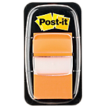 Index repositionnables Post it 4,32 (H) x 2,54 (l) cm Orange   50 Index