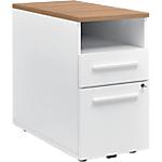 Poste de travail Gautier Office Top Line 80 (L) x 42 (P) x 74 (H) cm Blanc, Imitation Merisier