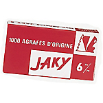 Boîte de 1000 agrafes   Rapid   Jaky cuivrées 6 mm