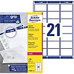 Étiquettes d'adresses Avery L7160 250 Blanc 5250 étiquettes   250