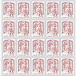 Timbres postaux autocollants La Poste Lettre prioritaire jusqu'à 20 g     20