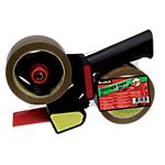 Dévidoir et rouleaux adhésifs d'emballage 50mm (l) x 66m (L) Scotch Noir   3 pièces